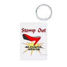 Stomp Out Alcohol Abuse Keychain