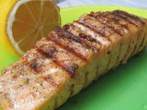 salmon, lemon, grill