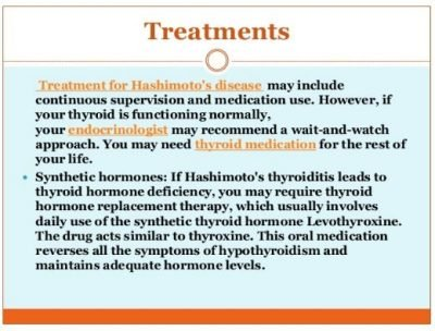 Treatment For Hashimoto's Disease